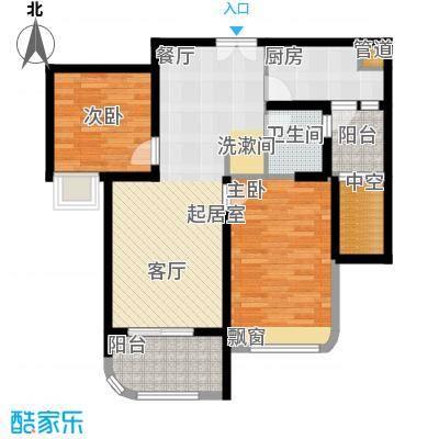 颐景御府82.00㎡雅乐B3 2室2厅1卫户型2室2厅1卫