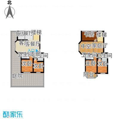 天境户型5室1厅4卫1厨
