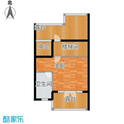 保利生态城76.63㎡152栋2三层户型1室1卫