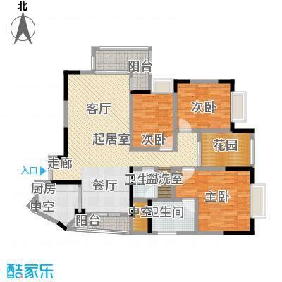 新世界曦岸124.00㎡V户型3房2厅2卫户型3室2厅2卫