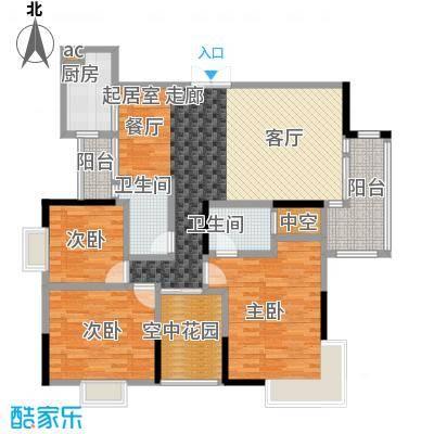 新世界曦岸130.00㎡P户型3房2厅2卫户型3室2厅2卫