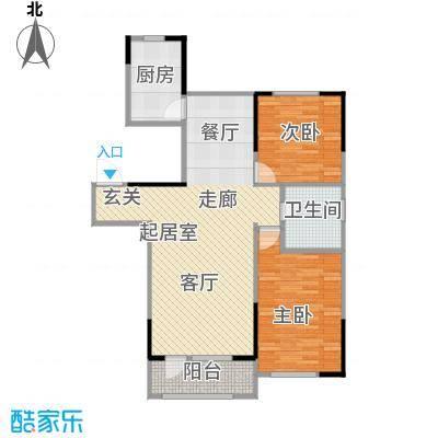 海泉湾・霞光府94.25㎡洋房F户型2室2厅1卫