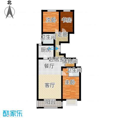 学府佳苑三室两厅两卫 123㎡户型3室2厅2卫