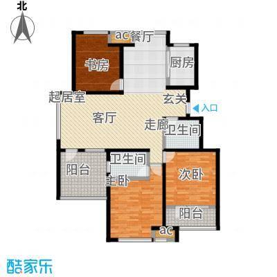 荣盛・盛锦花都137.43㎡13#B-01户型3室2厅2卫