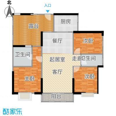 中信观澜凯旋城125.00㎡1-3栋G户型3室2卫1厨