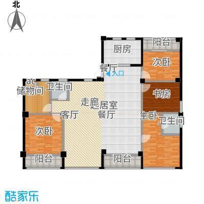 梅龙 枫香庭院215.00㎡户型D户型4室2厅2卫