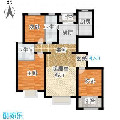 三庆城市主人143.00㎡G3户型三室两厅两卫户型3室2厅2卫