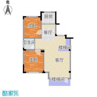 葫芦岛龙湾壹品95.38㎡户型2室2厅1卫