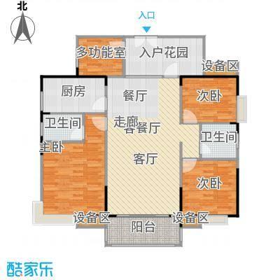 联运怡景苑126.96㎡A1户型126.96㎡3房2厅2卫户型3室2厅2卫