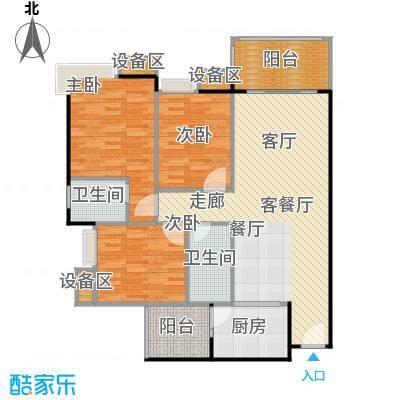 联运怡景苑109.00㎡A3、A4、B3、B4户型109㎡3房2厅2卫户型3室2厅2卫