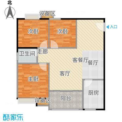 联运怡景苑87.00㎡A2、B5户型87㎡3房2厅1卫户型3室2厅