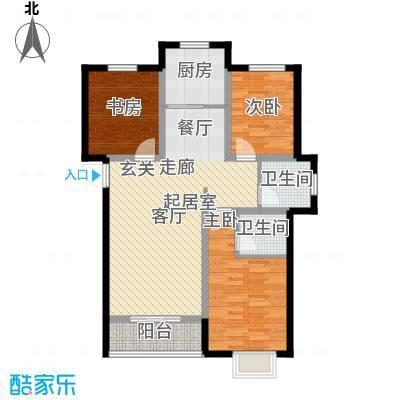 外滩森林115.28㎡A户型 三房两厅两室户型3室2厅2卫