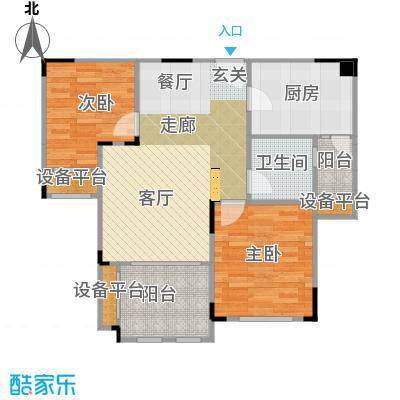 碧桂园凰城75.00㎡C16-3户型 2室2厅1卫户型2室2厅1卫