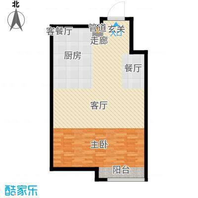新凯御景湾1/2号楼B阁楼户型1厅