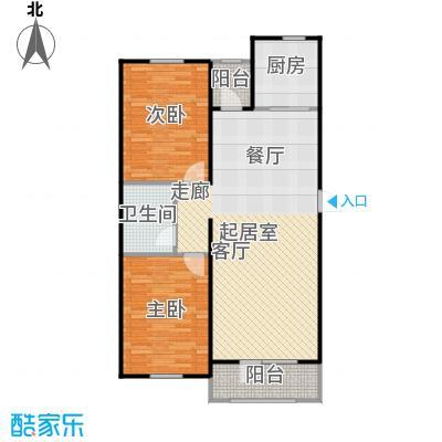 澳海澜苑90.00㎡D3-两室两厅一卫90平米户型2室2厅1卫