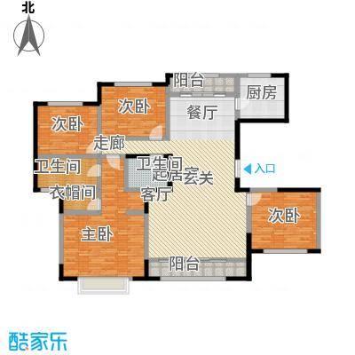 新华联广场-T户型4室2卫1厨