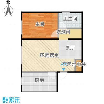 华润凯旋门65.00㎡华润凯旋门一室两厅一卫户型65平米户型1室2厅1卫