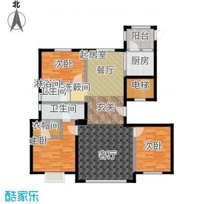 恒昌卢浮公馆户型3室2卫1厨