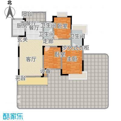 学府港湾户型1室1厅2卫1厨