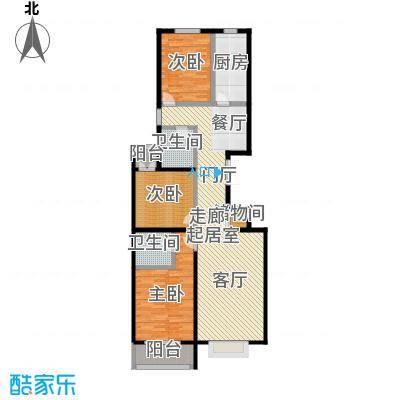 华丽家族134.51㎡4#J户型3室2厅2卫