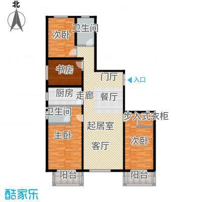 华丽家族157.59㎡2#A1户型图户型4室2厅2卫