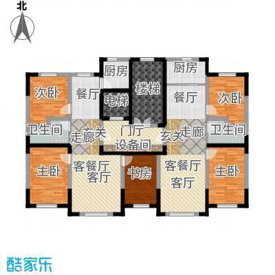 卓扬北湖湾100.28㎡卓扬北湖湾b/e房型平面户型图5室4厅2卫2厨 187.15㎡户型5室4厅2卫