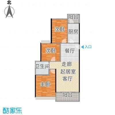 恒大中心100.00㎡2-5#楼标准层100平户型3室2厅1卫