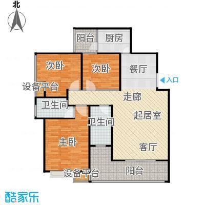 锦天・生态城117.78㎡I户型3室2厅2卫