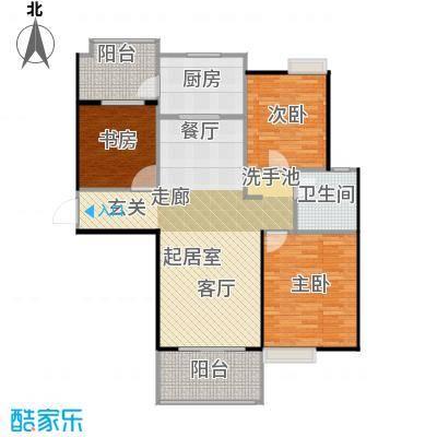 碧桂园生态城94.00㎡高层洋房J472户型3室2厅1卫