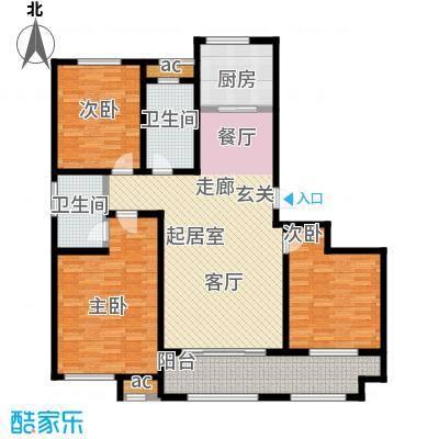 鲁邦・奥林逸城136.00㎡136平户型3室2厅2卫