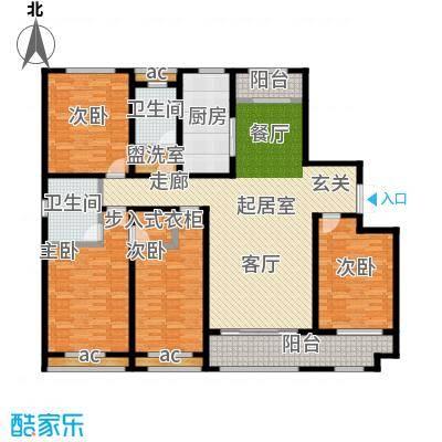 鲁邦・奥林逸城193.00㎡D户型四室两厅两卫户型4室2厅2卫