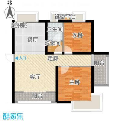 水印雅园75.00㎡二居75平米户型2室