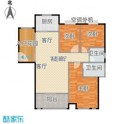 浔城湖锦108.03㎡XGA2户型 3居室 108.03平米户型3室2厅2卫