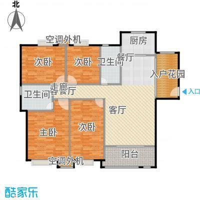 浔城湖锦142.20㎡XGA1户型 4居室 142.20平米户型4室2厅2卫