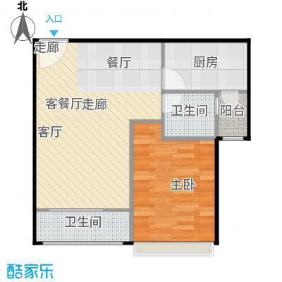 浔城湖锦57.41㎡GB2户型 小公寓 57.41户型