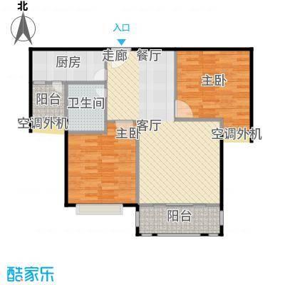 浔城湖锦79.91㎡XGA3户型 2居室 79.91平米户型2室2厅1卫