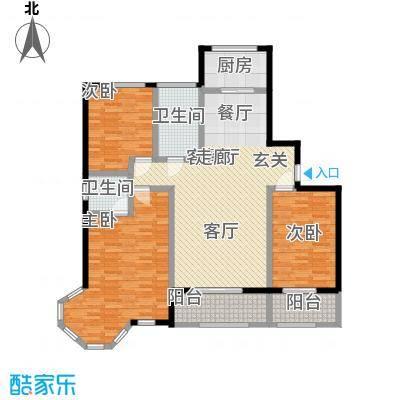 蓝钻庄园户型3室1厅2卫1厨