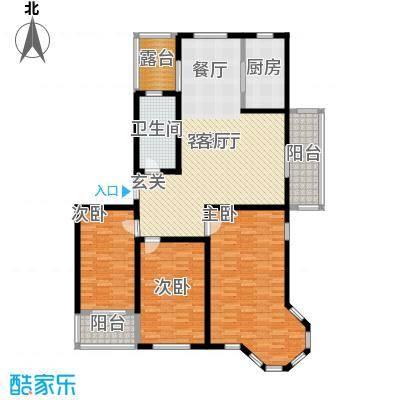 蓝钻庄园户型3室1厅1卫1厨