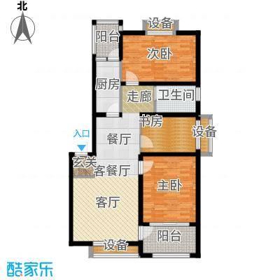 河畔花城98.00㎡多层,建筑面积约98㎡户型3室2厅1卫