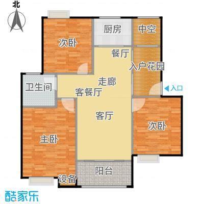 浔城湖锦106.20㎡GA2户型 三居室 106.20平米户型3室2厅1卫