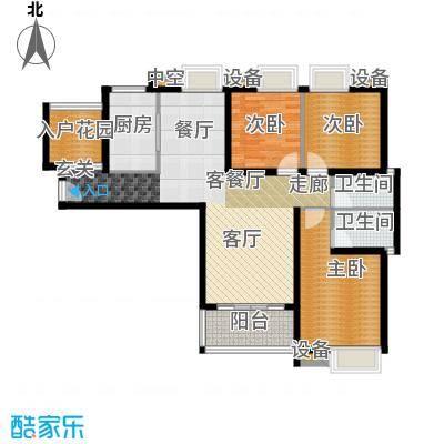 浔城湖锦128.22㎡GB1户型 3居室 128.22平米户型3室2厅2卫