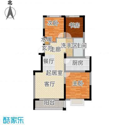 渤海之星97.42㎡户型图户型3室2厅1卫