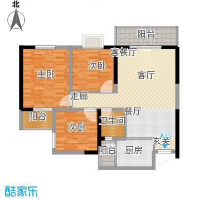 金色华府112.00㎡F1户型3室2厅1卫