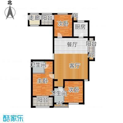 新源燕府160.00㎡f户型 三室两厅两卫户型3室2厅2卫