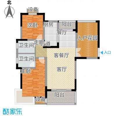 博威江南明珠苑118.58㎡博威江南明珠苑34#户型2室2厅2卫