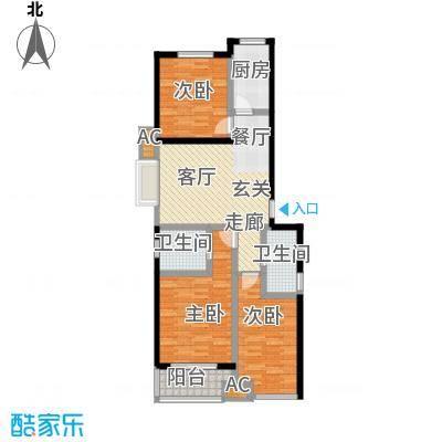 御龙湾118.00㎡1号楼A1户型3室2厅2卫