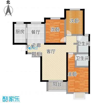 御龙湾140.00㎡1号楼C1户型3室2厅2卫