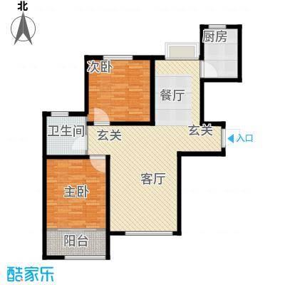中国铁建・明山秀水90.12㎡C2户型2室2厅1卫