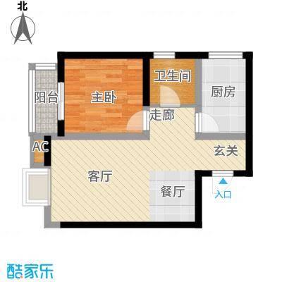 御龙湾67.00㎡4号楼G户型1室2厅1卫