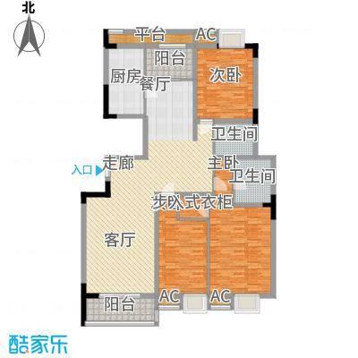 润城东方150.00㎡三房两厅两卫约150㎡户型3室2厅2卫